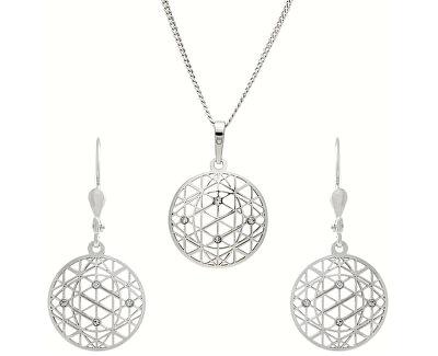 Tajemná sada šperků KO1594_NA0945_RH  (řetízek, přívěsek, náušnice)