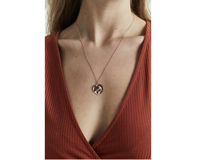 Růžově pozlacený ocelový náhrdelník Iggy JTXCR-J079