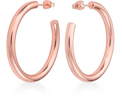 Luxusní růžově pozlacené náušnice kruhy Iggy JCHBR-J082