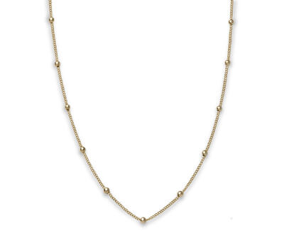 Pozlátený oceľový náhrdelník s guličkami Iggy JDCHG-J057