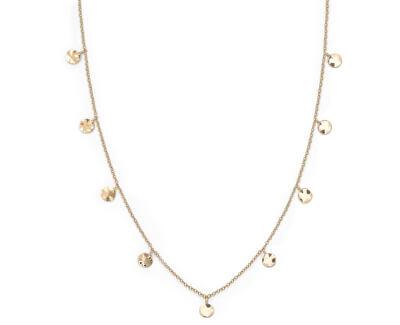 Pozlátený oceľový náhrdelník s peniažky Iggy JTCWG-J096