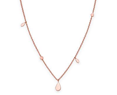Růžově pozlacený ocelový náhrdelník Iggy JSDNR-J055