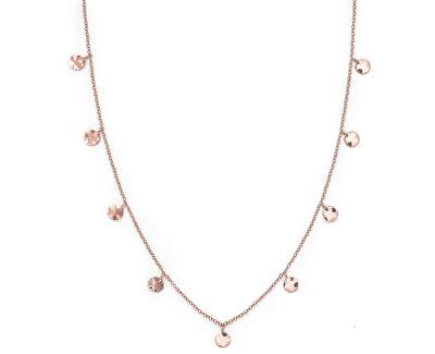 Růžově pozlacený ocelový náhrdelník s penízky Iggy JTCWR-J097