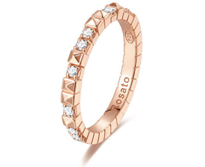 Originální bronzový prsten se zirkony Cubica RZA012