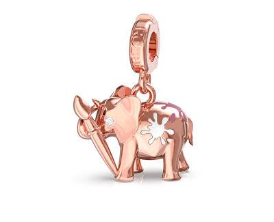 Růžově zlacený přívěsek Slon Storie RZLE004