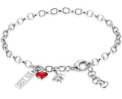 Stilvolles Silber Armband mit Anhängern RZB026