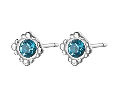 Cercei eleganți din otel cu cristale albastre CLICK SCK33