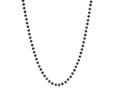 Náhrdelník s černými korálky Happy SHAC48