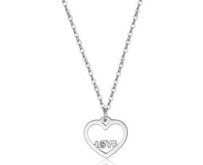 Colier cu pandantiv inimă cu inscripție LOVE SPE02