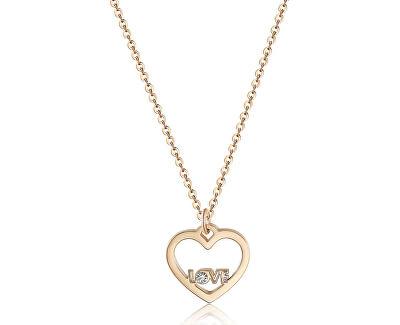 Colier cu pandantiv inimă cu inscripție LOVE SPE04