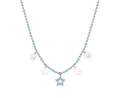 Ocelový náhrdelník s přívěsky Vibes SVB03