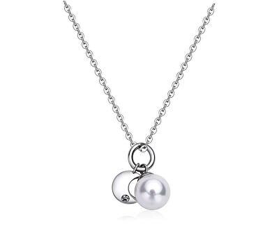 Colier din oțel cu semilună și perla ZILE SDY03