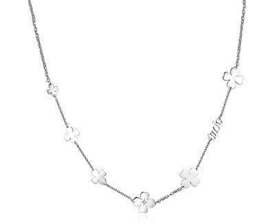Oceľový náhrdelník sa štvorlístkami Fancy SFC06