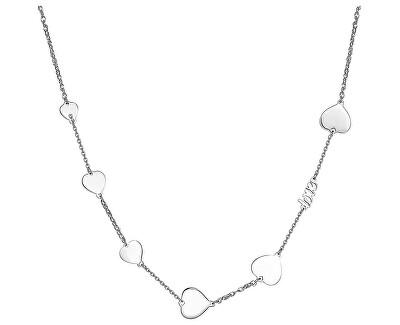 Oceľový náhrdelník so srdiečkami Fancy SFC05