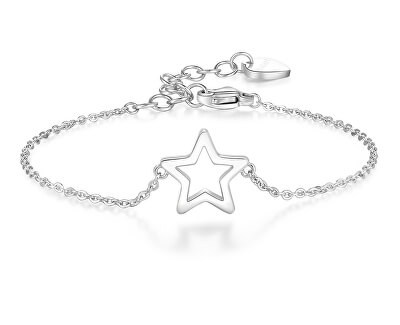 Ocelový náramek s hvězdou Click SCK18