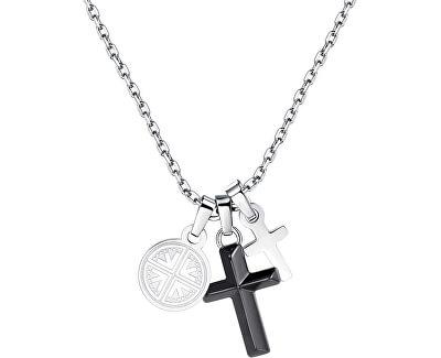 Pánsky náhrdelník s krížikmi India SIN01
