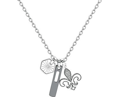 Pánsky oceľový náhrdelník India SIN03