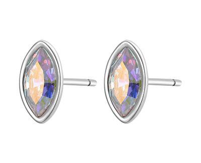 Cercei placați cu aur din otel cu cristal CLICK SCK34