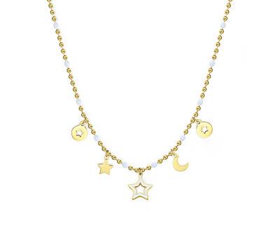 Pozlacený ocelový náhrdelník s přívěsky Vibes SVB04