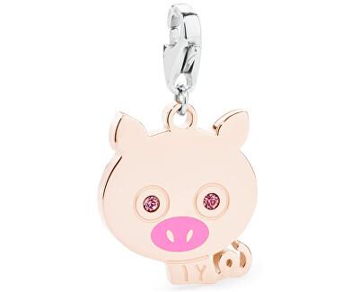 Pandantiv fericit de porc de aur SHA108