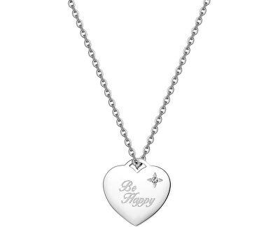Srdiečkový náhrdelník Be My Always Be Happy SBM05