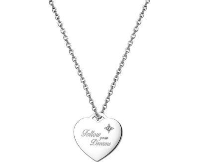 Srdiečkový náhrdelník Be My Always Follow Your Dreams SBM02