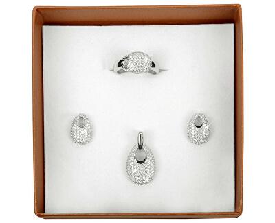 Cercei din argint cu cristale SC108