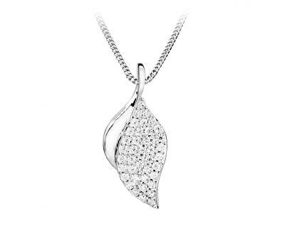 Elegantní náhrdelník se zirkony SC364