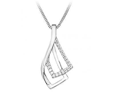 Elegantní náhrdelník se zirkony  SC371
