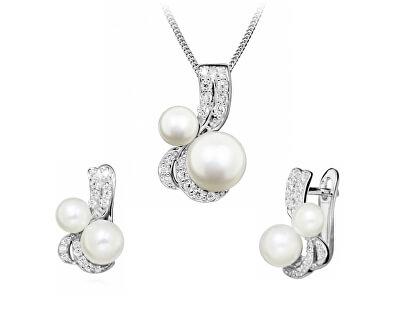 Okouzlující zvýhodněná sada šperků SC422, SC423 (řetízek, přívěsek, náušnice)