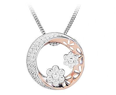 Romantický bicolor náhrdelník se zirkony SC431