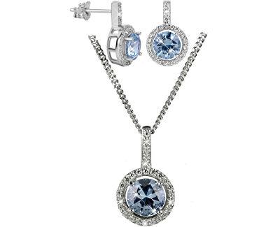 Strieborná sada náhrdelníkov SC294 a náušníc SC295