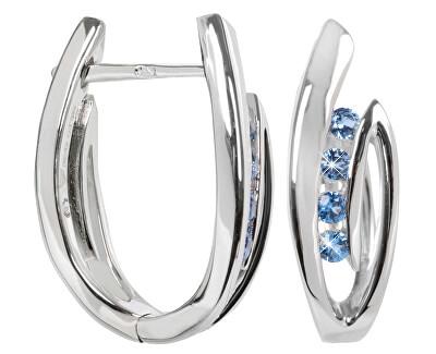 Cercei din argint cu cristale SC138