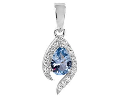 Pandantiv din argint cu cristal albastru SC116