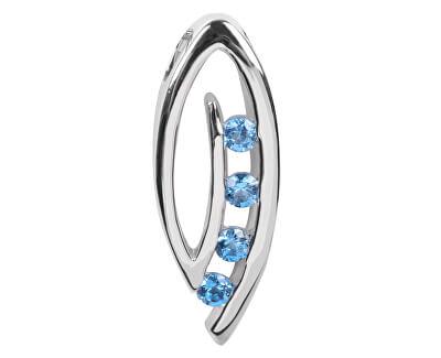Pandantiv din argint cu cristale albastru SC137