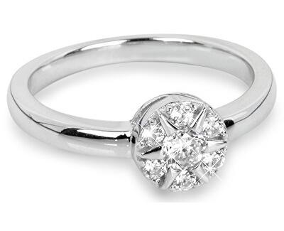 Inel din argint Floare cu zircon SC206
