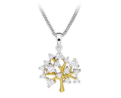 Stylový bicolor náhrdelník se stromem života SC415