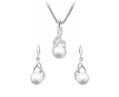 Zvýhodněná sada šperků s perlami SC404, SC405 (řetízek, přívěsek, náušnice)