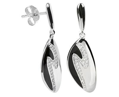 Cercei de argint cu cristale SC036