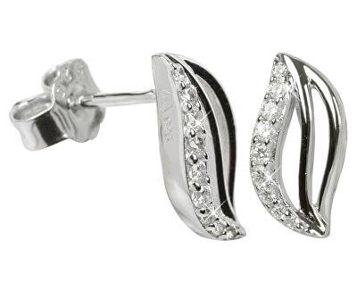 Stříbrné náušnice s krystaly SC039
