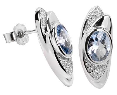 Stříbrné náušnice s krystaly SC057