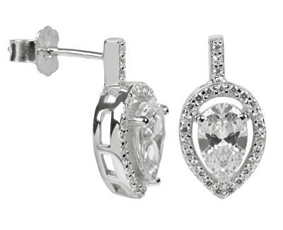 Stříbrné náušnice s krystaly SC072