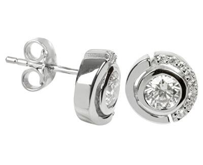 Stříbrné náušnice s krystaly SC081