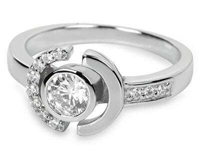 Stříbrný prsten s krystaly SC079
