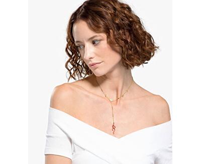 Hravý pozlacený náhrdelník s červeným korálem Shell 5520658 - SLEVA