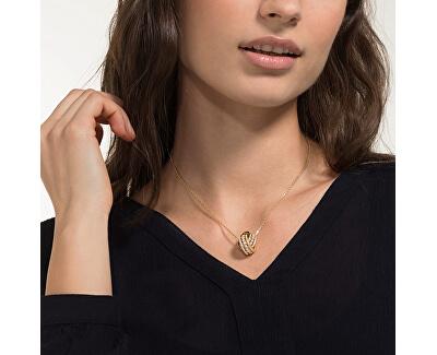 Bronzový náhrdelník s třpytivým přívěskem Further 5498997RG