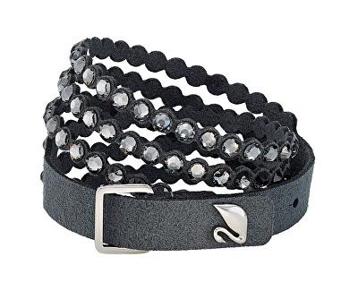 Tmavě šedý náramek s krystaly Power 5512509