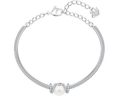 Oslnivý pevný náramek s krystaly a perličkou ORIGINALLY 5461083