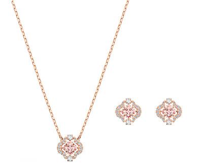 Sada růžově zlacených šperků s krystaly SPARKLING 5516488