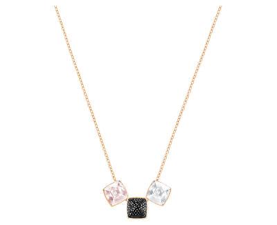 Stylový bronzový náhrdelník s krystaly Glance 5294886 - SLEVA